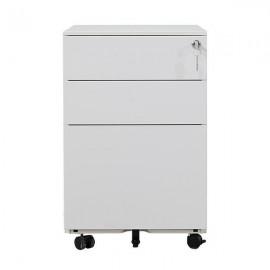 32809-00---2 Nextdeco συρταριέρα λευκή μεταλλική με 3 συρτάρια - κλειδαριά Υ60x39x50εκ.