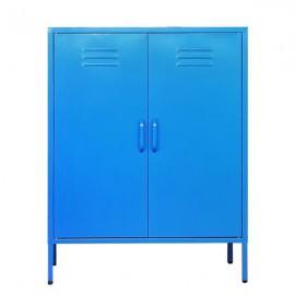 32807-03---2 Nextdeco ντουλάπα μπλε μεταλλική δίφυλλη Υ102x80x40εκ.