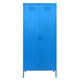 32808-03---2 Nextdeco ντουλάπα μπλε μεταλλική δίφυλλη Υ170x76x50εκ.