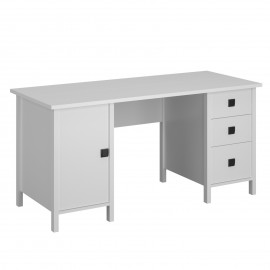 TO-MAR1D3S155WHITE Γραφείο Marocco Λευκό 155x65x75.7cm