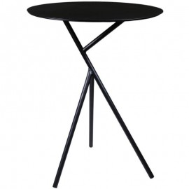 35305-09---2 Τραπέζι μεταλλικό μαύρο Υ57εκ. και διάμετρος 45εκ.
