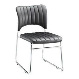 Καρέκλα επισκέπτη VENUS-W Χρώμιο/Pu Μαύρο (ΕΟ554,W)