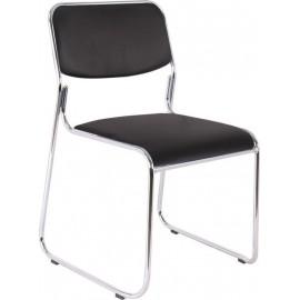 CAMPUS-W Καρέκλα Χρώμιο/Soft Pu Μαύρο (Ε553,1W)