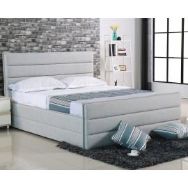 Woodwell APOLLO Κρεβάτι 160x200cm Ύφασμα Sand-Grey e8076