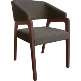FRASER Πολυθρόνα Καρυδί/Ύφ.Cappuccino 46x58x81 cm / Ε7700,1