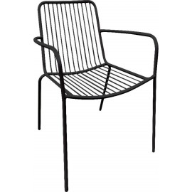 Πολυθρόνα μεταλλική NEXUS Μαύρη (Ε520)