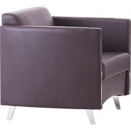 Πολυθρόνα ONTARIO K/D (72x74x72) Pu Καφέ (Ε967,13)