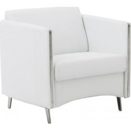 Πολυθρόνα ONTARIO K/D (72x74x72) Pu Άσπρο (Ε967,11)