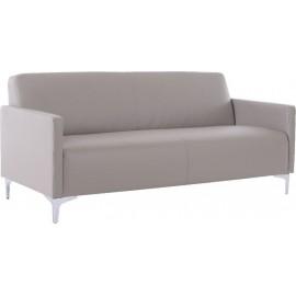 Καναπές τριθέσιος STYLE από PU σε χρώμα sand grey 164x71x72εκ. e948,34