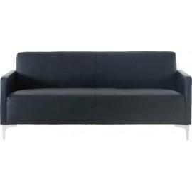 Καναπές διθέσιος STYLE από PU σε χρώμα μαύρο 112x71x72εκ. e948,22