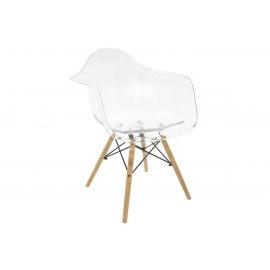 005-000039 Πολυθρόνα Julita PC Polycarbonate διάφανη επαγγελματική κατασκευή
