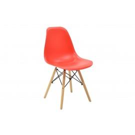 023-000004 Καρέκλα Julita PP χρώμα κόκκινο επαγγελματική κατασκευή