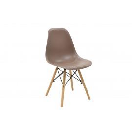 023-000003 Καρέκλα Julita PP χρώμα μόκα επαγγελματική κατασκευή