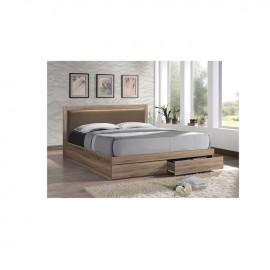 em371,2 LIFE κρεβάτι με συρτάρια+αποθηκευτικό χώρο CAPPUCCINO ΓΙΑ ΣΤΡΩΜΑ 160Χ200 ΕΚ