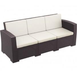 Τριθέσιος καναπές Monaco ΚΑΦΕ