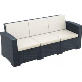 Τριθέσιος καναπές Monaco ΑΝΘΡΑΚΙ